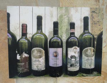 Placa decorativa vinhos diversos 30x40CM