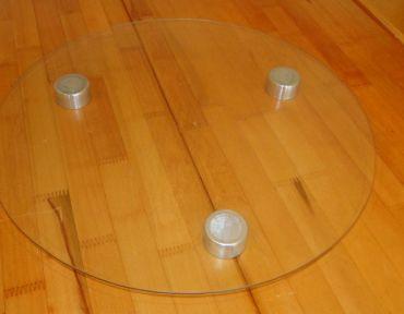 2-Bandeja de vidro redonda 35/40 cm.