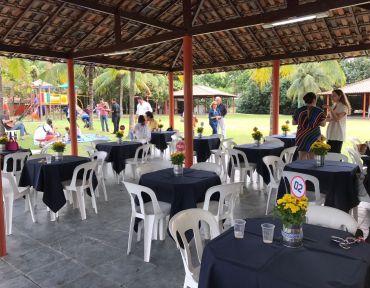 Festa Toalhas Azul Marinho Quadrada.