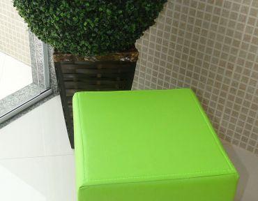 Puff individual verde pistache