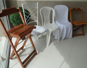 Amostra de diferentes tipos de cadeiras.