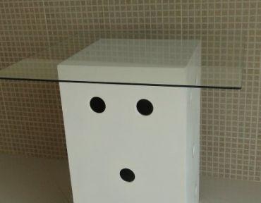 Mesa base círculo com tampo de 85 cm.