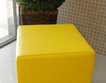 Puff individual amarelo